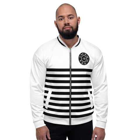 Black and White Mens Bomber Jacket