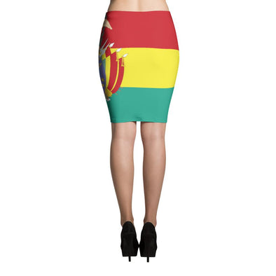 I Love Bolivia Flag Skirt / Pencil Skirts / Bolivian Skirts