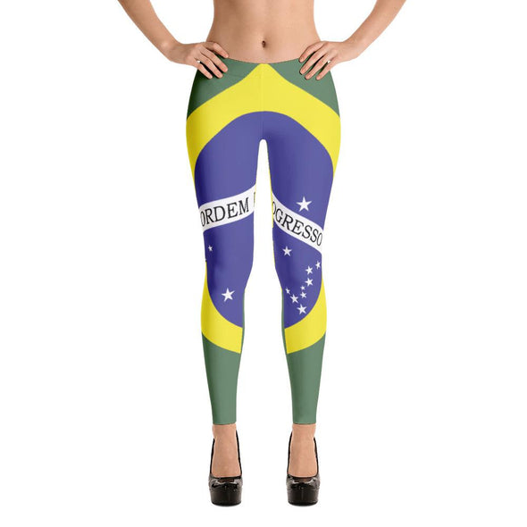 Brazil Flag Leggings / women's leggings / leggings for women