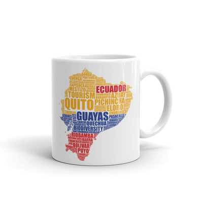 Ecuador Coffee Mug - Map of Ecuador Coffee Mug
