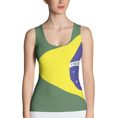 Brazilian Flag Tank Top / Brazil Shirt / Brazilian Flag