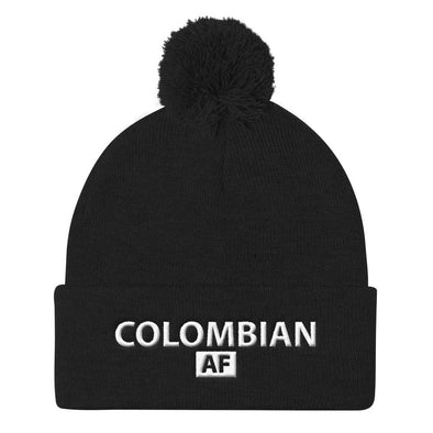 Colombian hat / Colombian AF beanie with Pom Pom Knit Cap