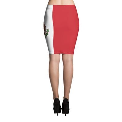 I love Mexico Flag Pencil Skirt