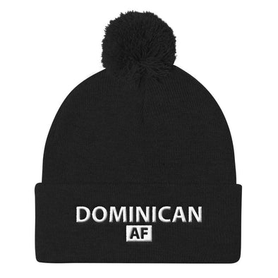 Dominican hat / Dominican AF Beanie with Pom Pom Knit Cap