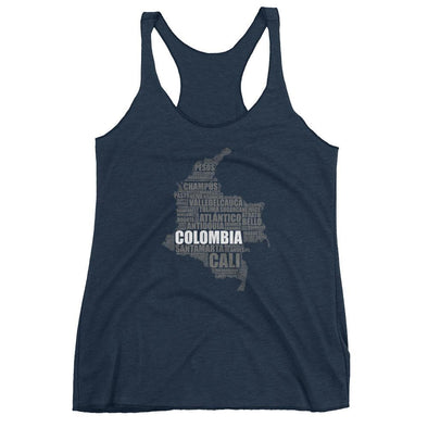 Map of Colombia / Women's Racerback Tank top / Colombia / tank tops