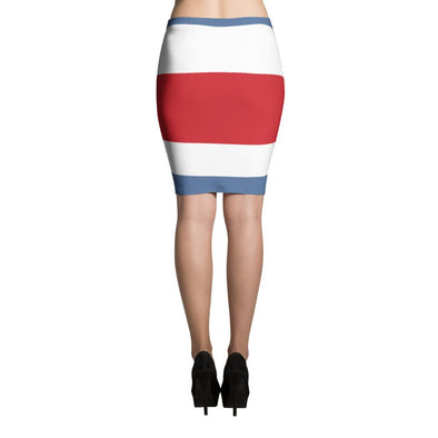 Costa Rica Flag Skirt / Pencil Skirt / Costa Rican Flag