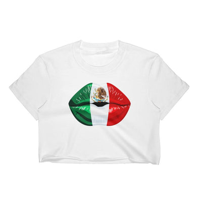 Mexico Flag Kiss Women's Crop Top / Mexican Flag / Mexico t shirts
