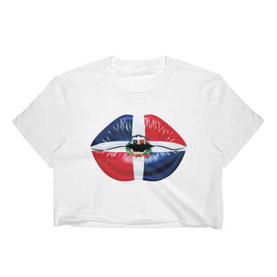 Dominican t-shirts / Dominican Republic Flag Women's Crop Top