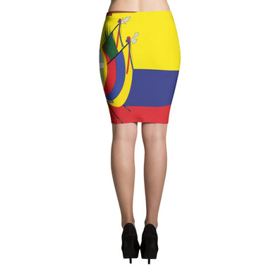 I love Ecuador Flag Skirt / Pencil Skirts / Ecuadorian Flag