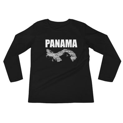 Panama t-shirt / Map of Panama / Women's Long Sleeve T-Shirt
