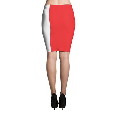 I love Peru Flag Pencil Skirt