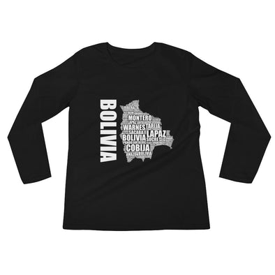 Bolivian t-shirt / Bolivian Map t-shirt / Women's Long Sleeve T-Shirt