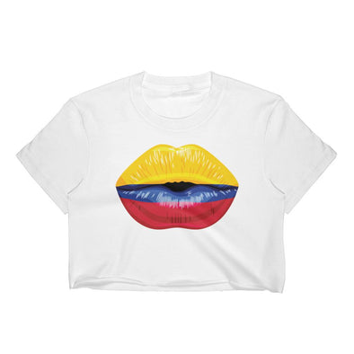 Colombia Flag Kiss Women's Crop Top / Colombia / Colombian Flag t shirts