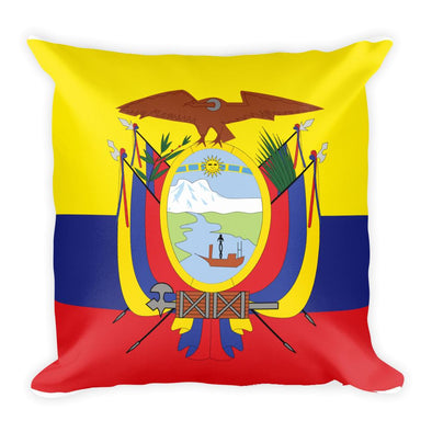 Ecuadorian FlagThrow Pillow / Throw Pillows / Ecuadorian Flag / Decorative Throw Pillow Case Cushion Cover 18 X 18 inch