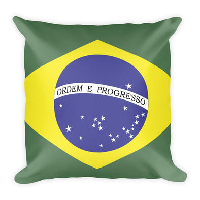 Brazil Flag Throw Pillow / throw pillow / Brazil flag