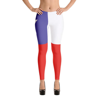 Chile Flag Leggings / Women's Leggings / leggings for women