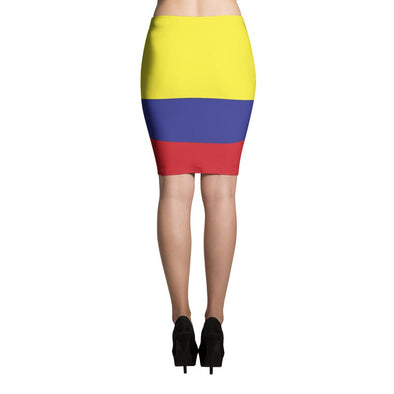 I love Colombia Flag Skirt / Pencil Skirts / Colombian Flag