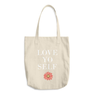 LOVE YO SELF - Cotton Tote Bag - porqué.live