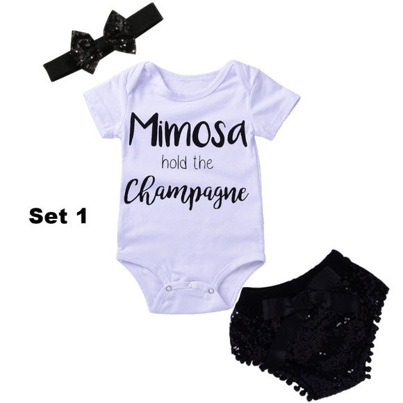 Baby newborn infant girl 3pcs summer clothes clothing set - BabyKid Mart