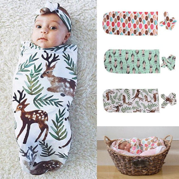 FREE For First 100 Mommies: 2-in-1 Adorable Swaddle Set (Swaddle + Headband)