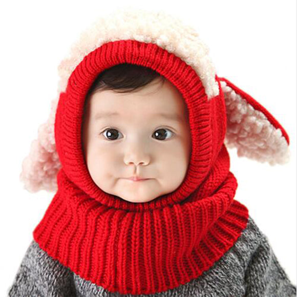 Colorful Christmas Baby Earflap Hats With Scarf