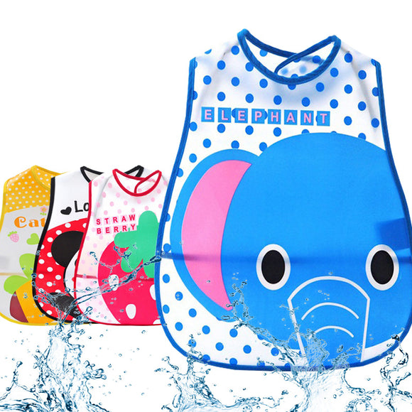 Waterproof Soft Feeding Baby Bibs with Pocket 1pc