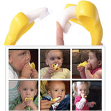 Baby Infant Training Banana Toothbrush and Teether - BPA Free Chemical Free