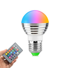 Multicolor RGB Magic LED Light Bulb + Remote Control