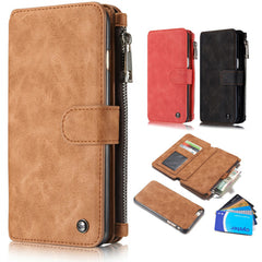 Leather Wallet Case with Zipper & Card Slot Holder