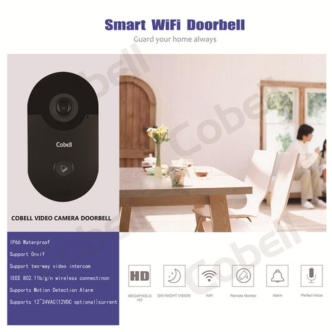 Cobell Video Door Phone Intercom with Night Vision