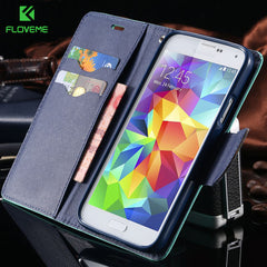 FLOVEME For Samsung Galaxy S3 III i9300 S4 i9500 Stand Wallet  Card Slot Leather Cases For Samsung S8 Plus S7 S6 Edge S5 Cover