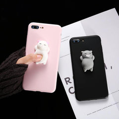 KISSCASE Cute Cat Silicon Case for iPhone 5,6,7,8,X