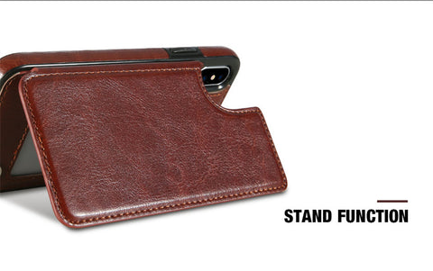 Leather iPhone Case with Card Holder