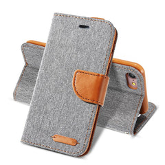 iPhone Denim Wallet Case with Card Slots