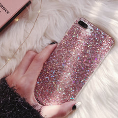 Sparkly Glitter iPhone Case for girls - Soft Silicone