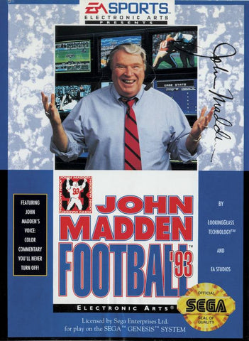 John Madden Football '93 - SEGA Genesis [USED]