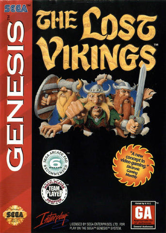 The Lost Vikings - SEGA Genesis [USED]