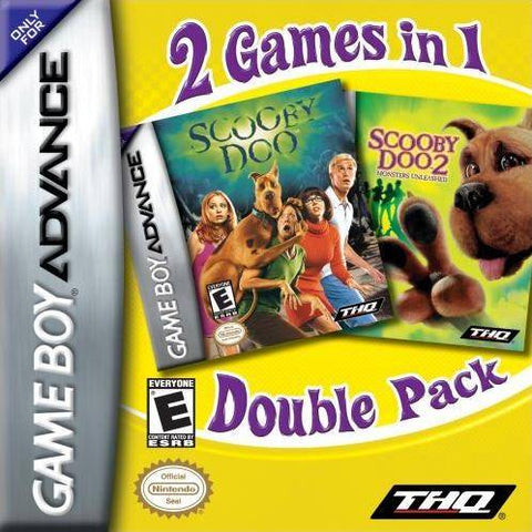 2 Games in 1 Double Pack: Scooby-Doo / Scooby-Doo 2: Monsters Unleashed - Game Boy Advance (TAB, 2006, US )