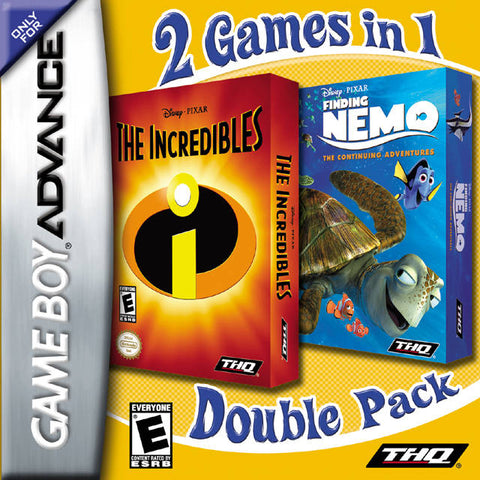 2 Games in 1 Double Pack: The Incredibles / Finding Nemo: The Continuing Adventures - Game Boy Advance (TAB, 2007, US )