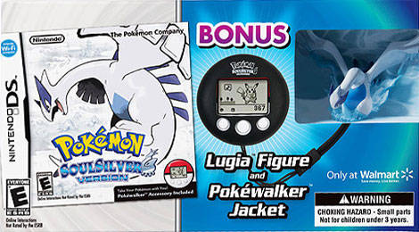 Pokemon SoulSilver Version (w/Bonus Figure & Pokewalker Jacket) - Nintendo DS