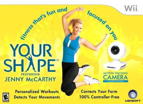Your Shape Featuring Jenny McCarthy (w/Camera) - Nintendo Wii [NEW]