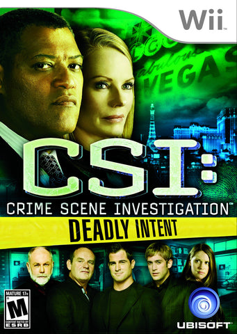CSI: Crime Scene Investigation: Deadly Intent - Nintendo Wii [USED]