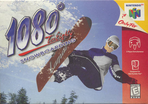 1080: TenEighty Snowboarding - N64 Box Art