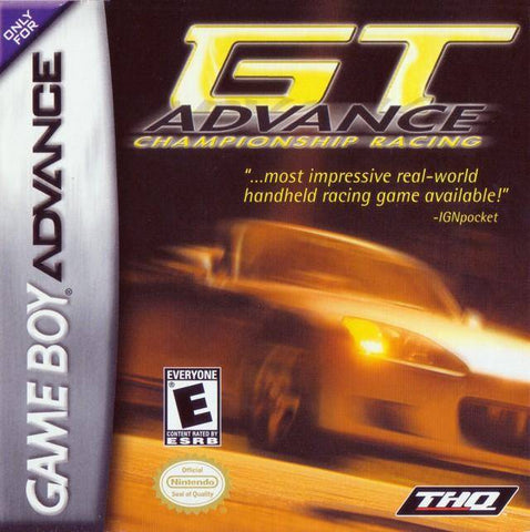 GT Advance Championship Racing - Game Boy Advance (Racing, 2001, US )