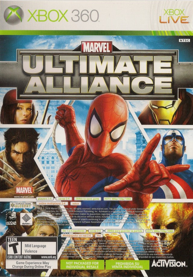 Marvel: Ultimate Alliance / Forza Motorsport 2 - Xbox 360