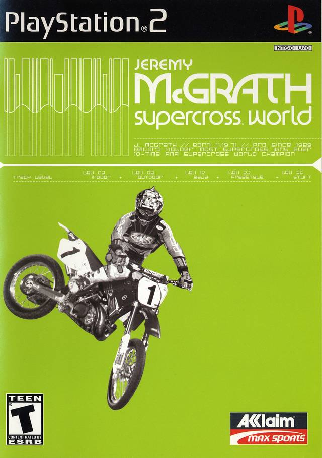 Jeremy McGrath Supercross World - PlayStation 2