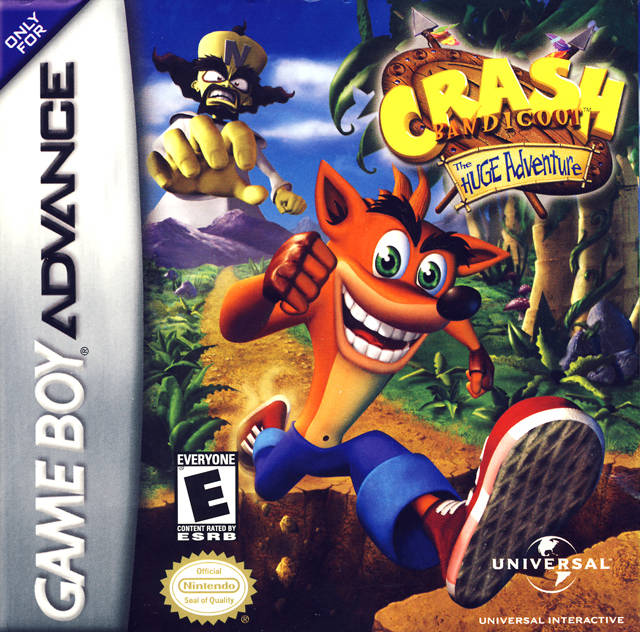 Crash Bandicoot: The Huge Adventure - Game Boy Advance (Platformer, 2002, US )