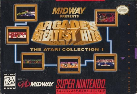 Midway Presents Arcade's Greatest Hits: The Atari Collection 1 - Super Nintendo [USED]