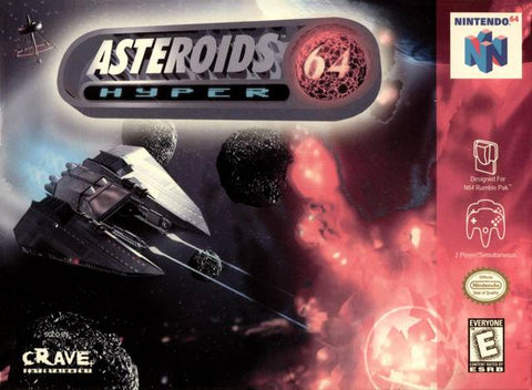 Asteroids Hyper 64 - N64 Cover Art