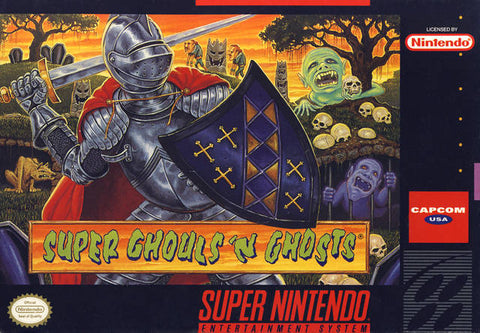 Super Ghouls 'n Ghosts - Super Nintendo [USED]